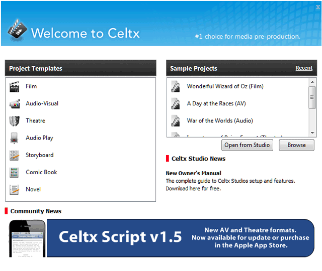 Portable Celtx 0.9.9.6 full